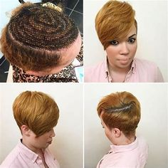 Image result for Sew in Weave Hairstyles for Black Women Pixie Cut