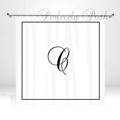 Monogrammed Personalized Custom Shower Curtain Monogram with Name or Initials perfect for any bathroom