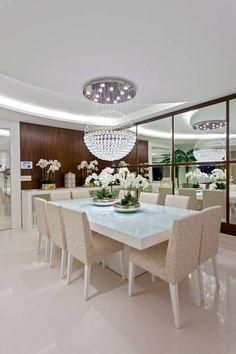 Apartamento São Paulo: Salas de jantar modernas por Designer de Interiores e Paisagista Iara Kílaris