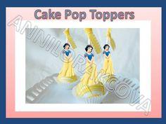 Printable Disney Princess Cupcake, Cake Pop Topper, picks, decor, Snow Withe #Disneysnowwithe #party