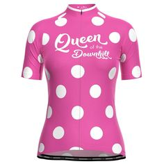 Women's Queen of the Downhill Short Sleeve Cycling Jersey – Online Cycling Gear – Free Shipping – Lowest Prices! Cycling Outfit, Cycling Gear, Cycling Jerseys, Women's Cycling Jersey, Female Cyclist, Bike Shirts, Athleisure, Female Bodies, Sport Outfits