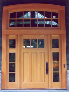 Beautiful Door The Side Lights And Transom Make This Door Set Up - Sidelights for front doors