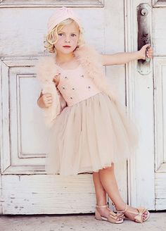 *NEW* Opal in Apricot by Joyfolie little kids high fashion style