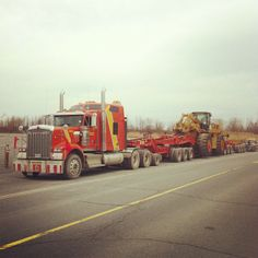 Entered by @pelletier1979! Ready to go! #Cat #Caterpillar #988H #Kw #Kenworth #W900 #13Axials #220000LBS