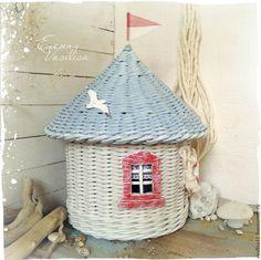 Купить Домик у моря Короб плетеный (короб-шкатулка) - домик у моря, домик на море, морской