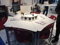 MakerSpace furniture is a challenge - many make their own (see other pins here) but some modern science lab equipment is very durable, can be reconfigured easily, doesn't stain etc. This example from Dubai
