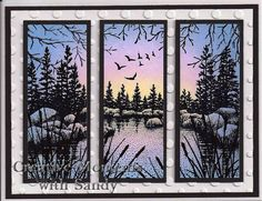 Stampscapes Lakeside Cove by shulsart - Cards and Paper Crafts at Splitcoaststampers