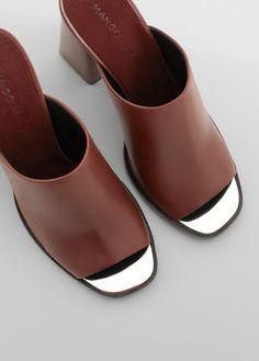 PREMIUM - Chaussures cuir ouvertes à l'arrière