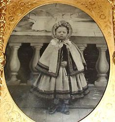 Antique Ambrotype Civil War Era Girl Amazing Winter Fashion Coat Photo Case | eBay