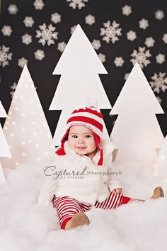 Image of Snowy Night Mini Session Christmas christmas mini session, snowflakes, snow, christmas setup, photography setup