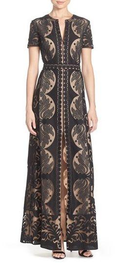 From dejmoda.com - BCBGMAXAZRIA 'Cailean' Burnout Lace Gown