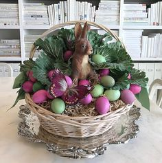 "109 Likes, 9 Comments - Kevin Sharkey (@seenbysharkey) on Instagram: ""Martha's 2017 Easter Basket  created by me. #easterbasket #easterbunny @marthastewart48…"""