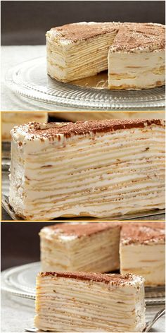 Crepeville cake, the most delicious in the world! Bakery Recipes, Dessert Recipes, Cooking Recipes, Good Food, Yummy Food, Weird Food, Russian Recipes, Sweet Cakes, Sweet Recipes