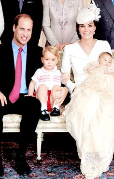 Princess Charlotte's Christening... I really like this picture that shows just the four of them :-)