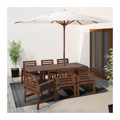 ÄPPLARÖ Bord+6 karmstolar, 3795:-utomhus IKEA Eftersom klaffarna går att fälla och ta bort kan du snabbt anpassa bordets storlek efter behov.