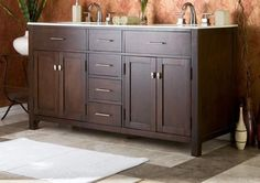 I like the style and configuration of drawers - can't decide light or dark wood.  Also like under counter mount sinks.