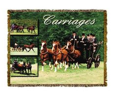 Horse Carriages Tapestry