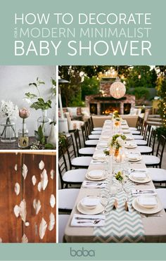How to Decorate | Modern Minimalist Baby Shower