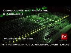 Dopoludnie na InfoVojne s Adrianom 3.10.2019 Music Instruments, Youtube, Musical Instruments, Youtubers, Youtube Movies