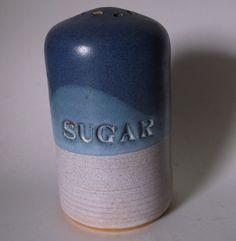 Studio Pottery Stoneware Sugar Shaker SIGNED @iloveoldstuff #handcrafted #kitchenware