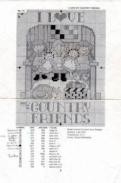Encontrado en labandedesfaineantes.blogspot.it La Bande des Faineantes: Vintage Pattern cross stitch - Children