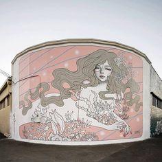 AUDREY KAWASAKI  mural in Kaka'ski // Hawaii