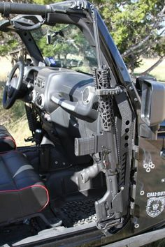 COD jeep gun Mount I'll have to remember this for the Zombie Apocolipse.