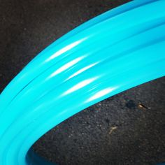 """Pre Made 30"""" Seaglass 11/16 Polypro Dance Hoop Push Button Connection Collapse For Travel Bright Aqua Blue Semi Translucent"""