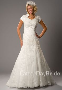 27276693b208 Stunning lace modest bridal gowns available at LatterDayBride in downtown  Salt Lake City.