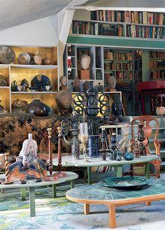 Wiinblad's home, Lyngby near Copenhagen China Painting, Copenhagen Denmark, Delft, Danish Design, Vintage Ceramic, Victorian Era, Interior Inspiration, Designer, Living Spaces