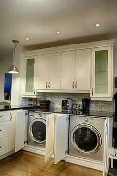 Washer And Dryer In Kitchen Layouts For The Home