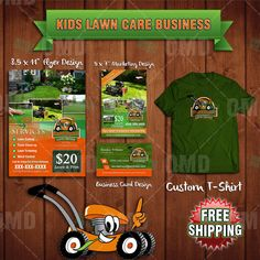 Complete Kids Lawn Care Business Marketing by kidentrepreneurs