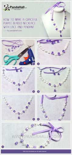 How to Make a Graceful Purple Beaded Necklace ... | Jewelry Making Tu�� by wanting