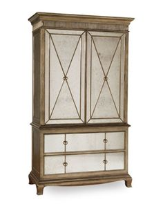 Shop Bristol Armoire from Hooker Furniture at Horchow, where you'll find new lower shipping on hundreds of home furnishings and gifts. Hooker Furniture, Mirrored Furniture, French Furniture, Cabinet Furniture, Antique Furniture, Bedroom Furniture, Bedroom Decor, Furniture Storage, Bedroom Ideas