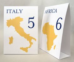 Travel - Countries of The World Table Number Cards....lol just wat I need