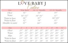 Measuring for your Love Baby J original design.