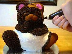 Teddy Bear Cake - How to Decorate a Teddy Bear Head Cake- Cake Decorating - YouTube