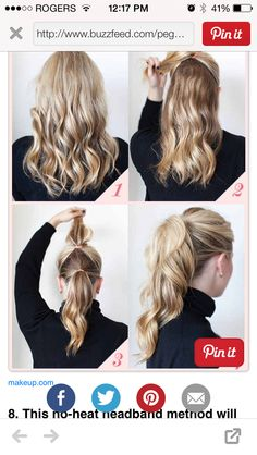 Do it yourself 2 part ponytail
