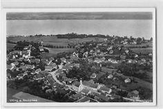 Alte Ansichtskarte Utting am Ammersee Originale Fliegeraufnahme