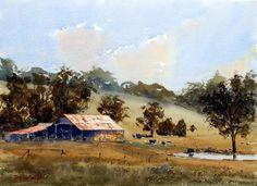 Landscape Watercolor Watercolour Painting | Easy Watercolor Paintings of Landscapes