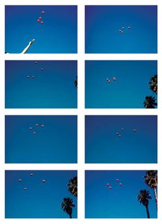 John Baldessari Photography Throwing four balls in the air to get a square (1972-73) art21