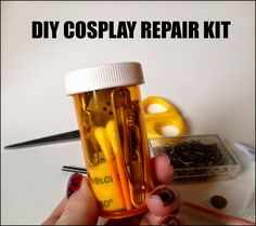 "A stash to make quick, ""down and dirty"" repairs to your costume without having to go back to the hotel or take of your entire costume. Good think to have in any Con kit."