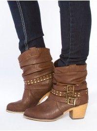 Wrap Buckle Cowboy Boots
