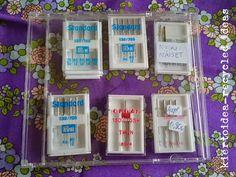 kiertoidea - recycled ideas: machine needles in a CD case!