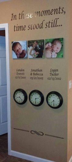 Children time born decor wall clock