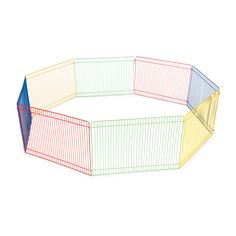Create a play area for your furry little friends with this multi-colored animal playpen from Prevue Pet Products. Connect the eight included panels to set up a 36-inch diameter or combine multiple set