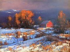 Romona Youngquist - Early Snow- Oil - Painting entry - March 2016 | BoldBrush Painting Competition