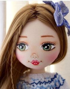New face and Lama wig. Eye Painting, Doll Painting, Doll Clothes Patterns, Doll Patterns, Doll Face Paint, Doll Drawing, Fabric Toys, Doll Eyes, Sewing Dolls