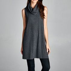 Echo Cowl neck sleeveless top S Tops Cowl Neck Top, Sleeveless Tunic, Fashion Design, Fashion Tips, Fashion Trends, Clothes For Women, Sweaters, Outfits, Knits