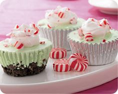 Peppermint ice cream cupcakes--Schwans